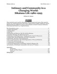 Entire Ethnography,   Intimacy and Community in a Changing World: Sikaiana Life 1980-1993